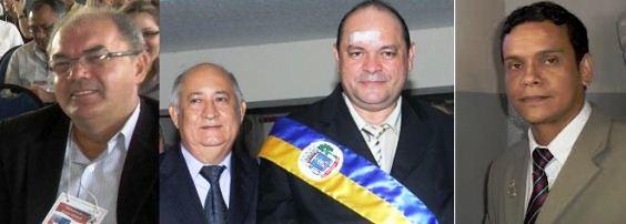 O prefeito de Santarém e os réus na Justiça