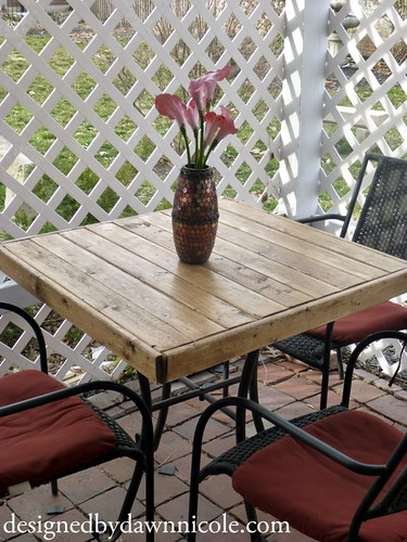 DIY Rustic Wood Table Cover