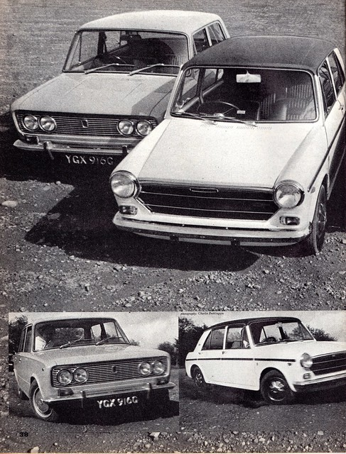 Fiat 124 S - Morris 1300 GT & Triumph 1300 TC Group Road Test 1969 (1)