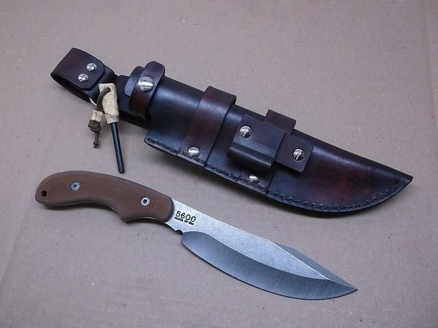 Ka Bar Potbelly Knife Leather Sheath