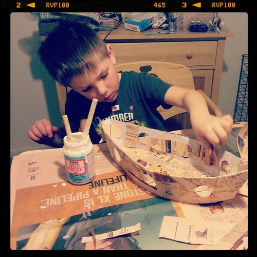 Today's important life skill lesson - building a pirate ship.