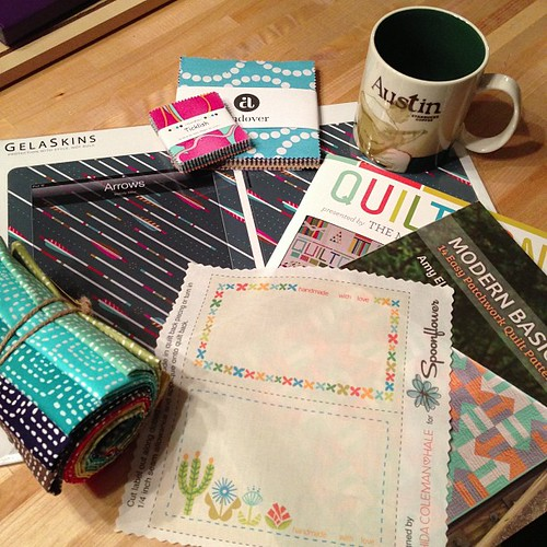 Home from a super-fun day at #quiltcon with @sallykeller814 and Katie!