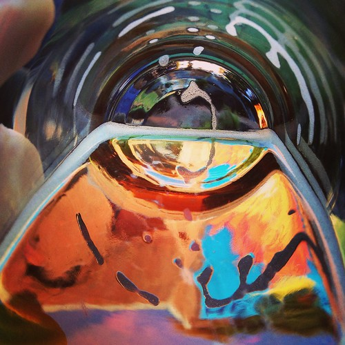 Spash of color in a beer glass, #2
