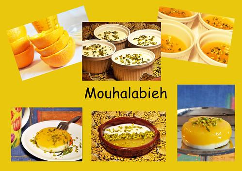 Mouhalabieh Flammeri Iran iranisch Dessert Süßspeise Nachspeise Orient orientalisch Milch Saft fruchtig exotisch
