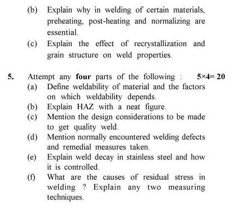 UPTU B.Tech Question Papers -ME-033 - Advanced Welding Technology