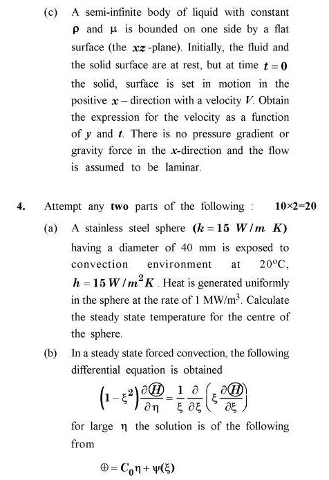 UPTU B.Tech Question Papers - CH-801 - Transport Phenomena
