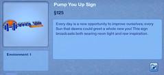 Pump You Up Sign