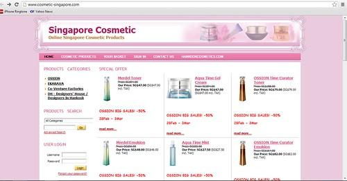 singapore cosmetics