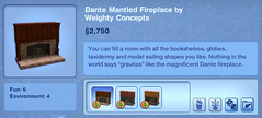 Dante Mantled Fireplace by Weighty Concepts