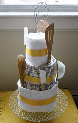 How To Make A Dish Towel Cake For Bridal Shower