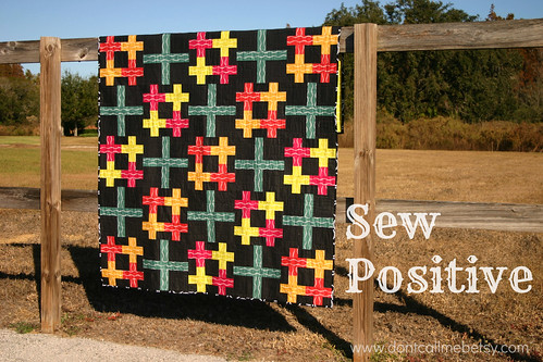 Sew Positive - my new quilt pattern in Quiltmaker's Quilts from 100 Blocks
