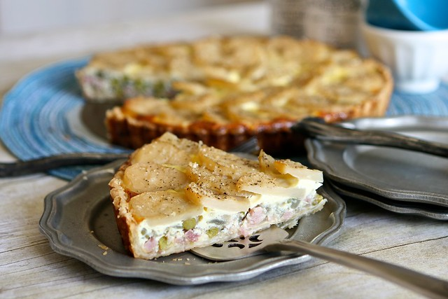 Potato Ham and Pea Quiche 003