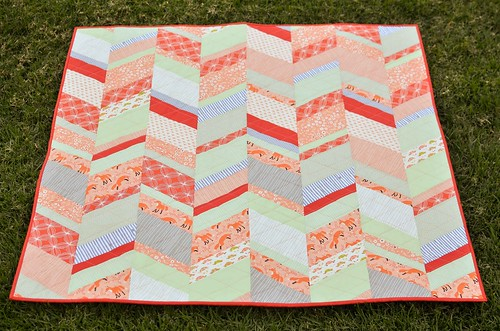 peachy baby quilt