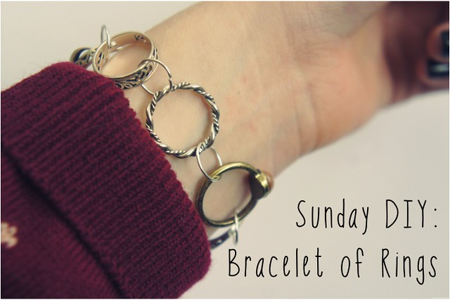 diy bracelet of rings 1