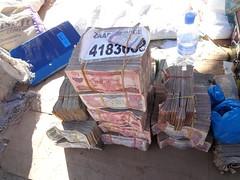 Monte de notas da Somalilandia em Hargeisa