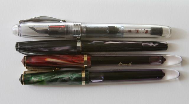 Airmail 444 + Flex Fountain Pen and Noodler's Flex Pens