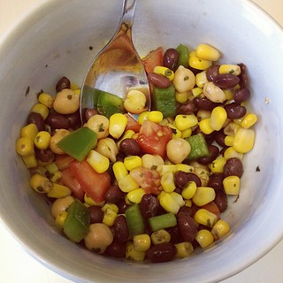 Day71 Black Bean Salad! Yum! Recipe from Forks Over Knives Cookbook 3.12.13 #jessie365