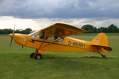 aviation, airplane, propeller driven aircraft, wing, vehicle, piper pa-18, piper j-3 cub, ultralight aviation,