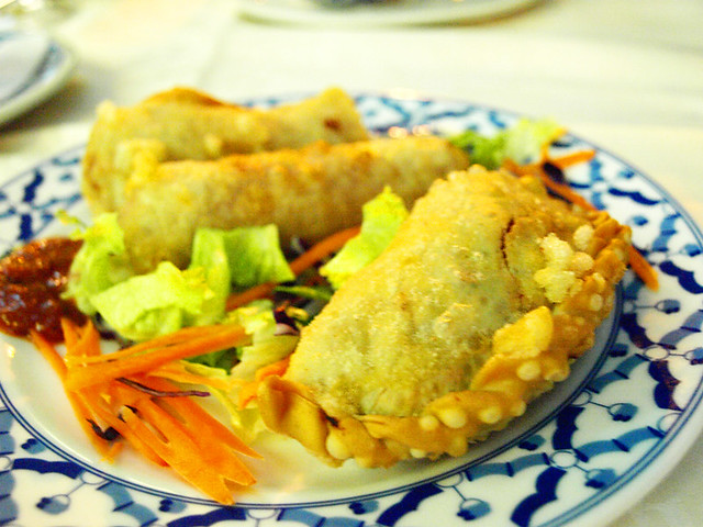 Vietnamese rolls and potato & curry pies, Ruen Thai, Puerto de la Cruz