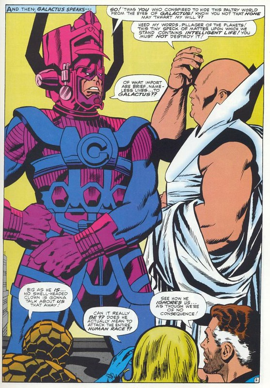 Fantastic Four 49 Galactus meets Watcher by Kirby 1966