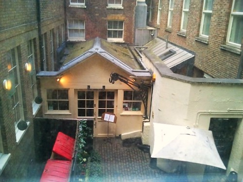 View from my room at Travelodge London Bank