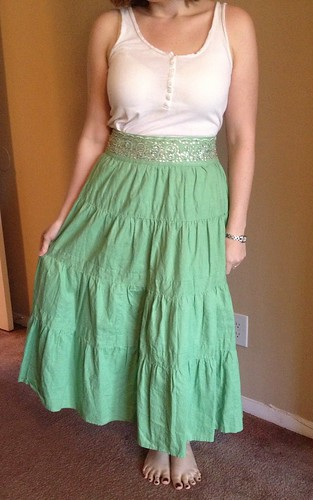 St Paddy's Skirt - Before
