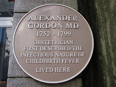 Photo of Alexander Gordon yellow plaque
