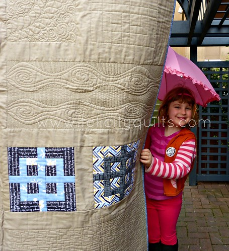 Girl and Quilt