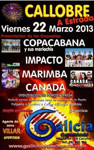 A Estrada 2013 - Festa do porco á brasa en Callobre - cartel
