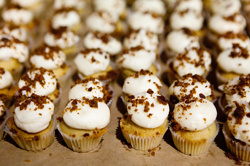 Boozy butterscotch cupcakes by Butter & Scotch