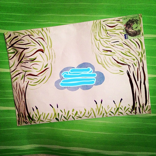 2/3 from my partner #elevatedenvelope #trees #bluebells #watercolour #australia