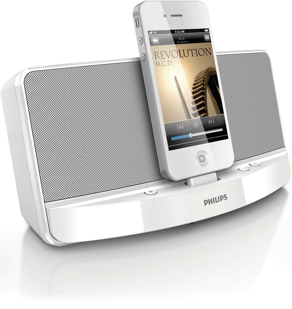 philips ad313 05 mp3 dock dockingstation iphone 4 3g s. Black Bedroom Furniture Sets. Home Design Ideas