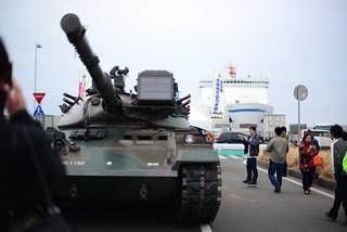 74式戦車とさんふらわあ@大洗。