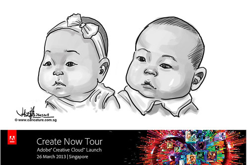 digital caricature for Adobe Create Now Tour - 9