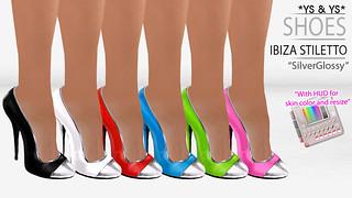 Ibiza Stiletto SilverGlossy @ YS&YS