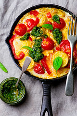 fritatta with summer vegetables