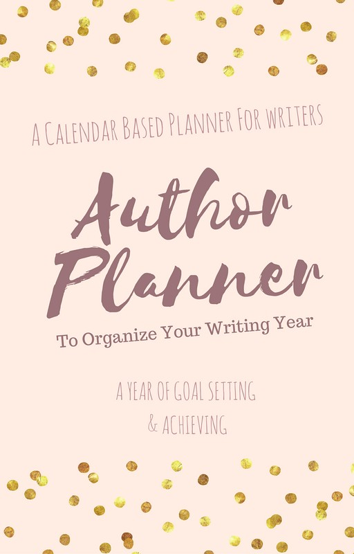 author planner cover