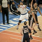 Carmelo Anthony Lays It Up In T