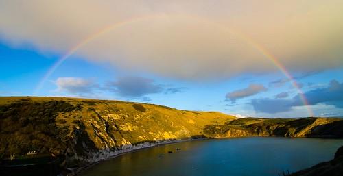 Rainbow Over Lulworth Cove