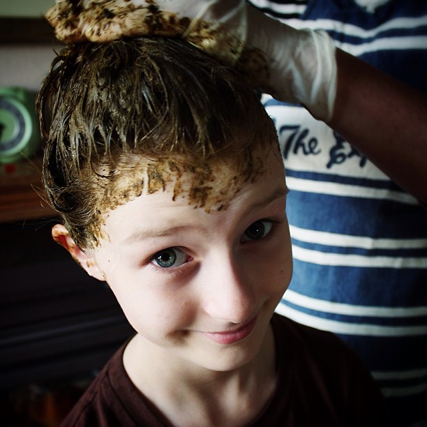 First ever hair colouring! #henna #before #favouritesmell