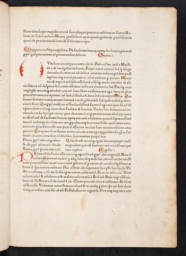 Title incipit of Caracciolus, Robertus: Sermones quadragesimales de poenitentia