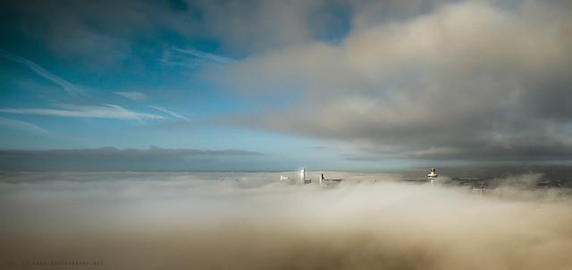 Foggy Panorama - Liverpool, Sony SLT-A99V, Sigma AF 12-24mm F4.5-5.6 EX DG