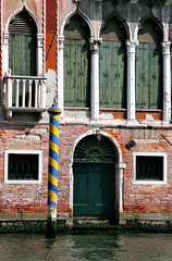 Venice Canal Door and spiral pole