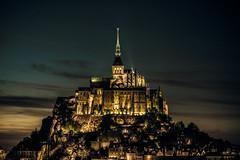 Mont Saint-Michel at night