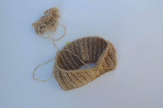 knit hat wip