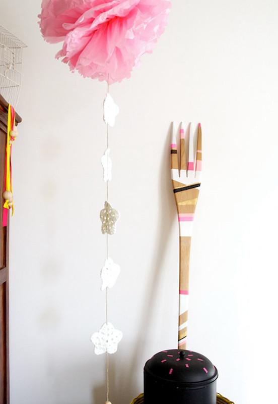 Il mio tema decorativo e la nuova ghirlanda di carta e lana