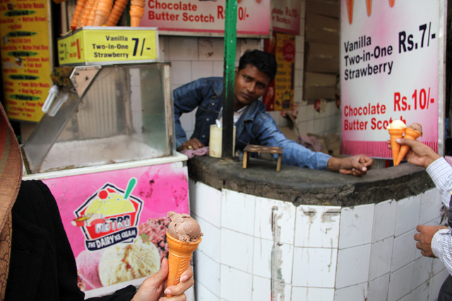 Street side ice cream in Kolkata, India