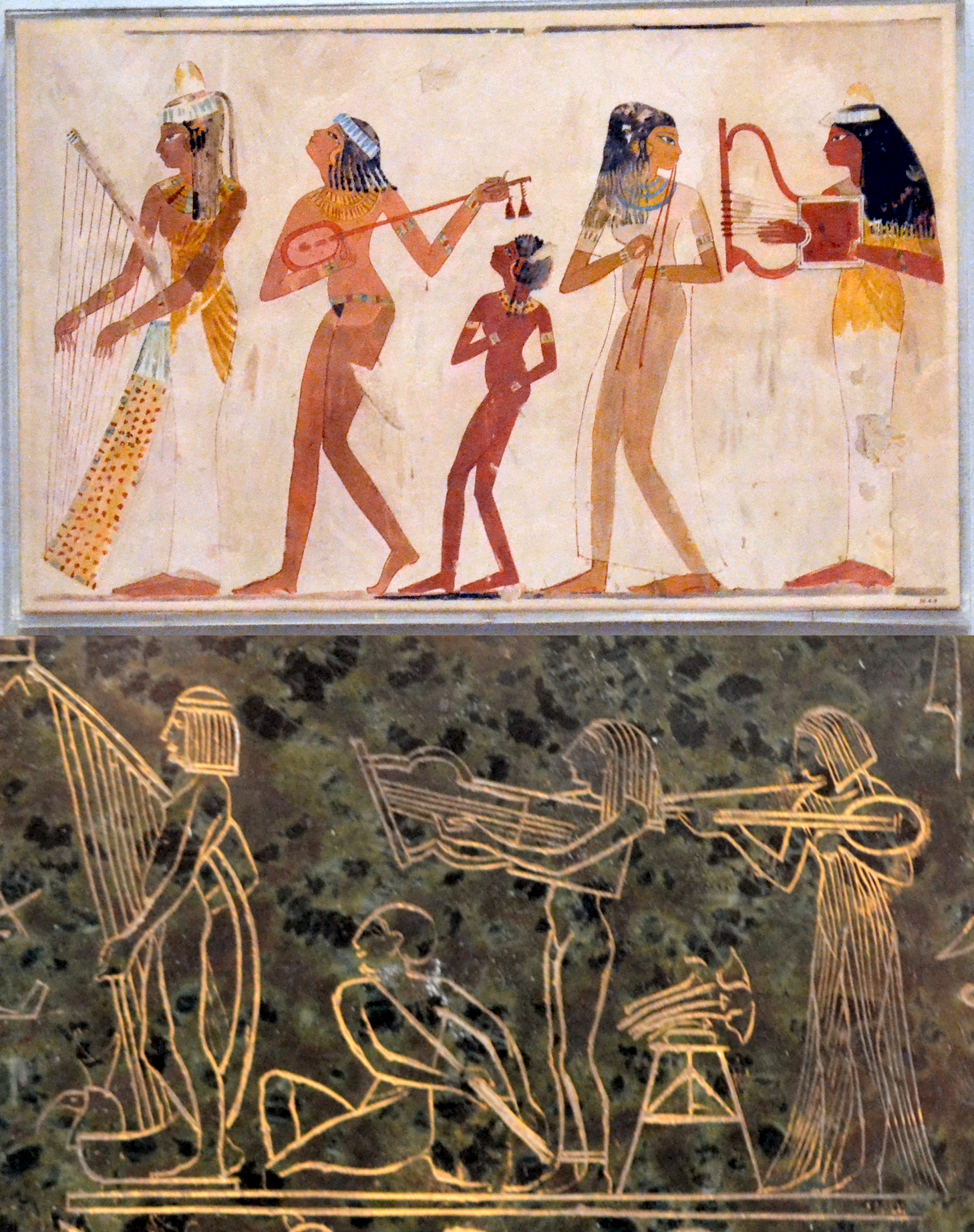 Comparison 1 musicians from ancient egyptian wall paint for Ancient egyptian mural paintings