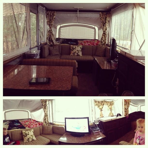 #pimpmycamper is complete! We are breaking her in this weekend!
