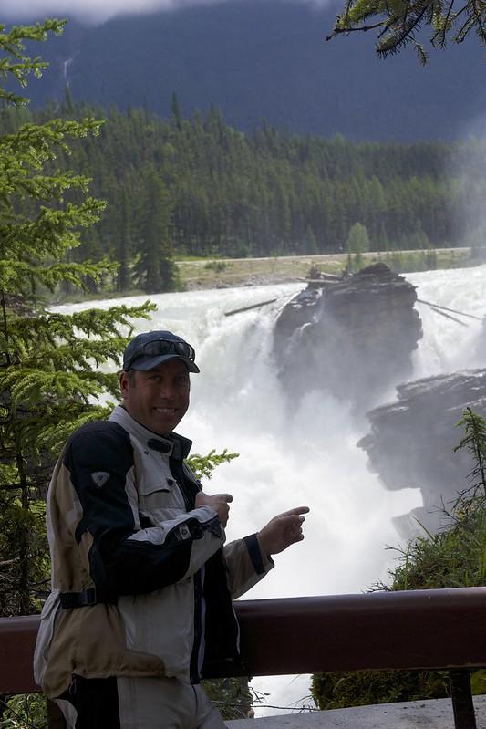 dan at Athabasca falls